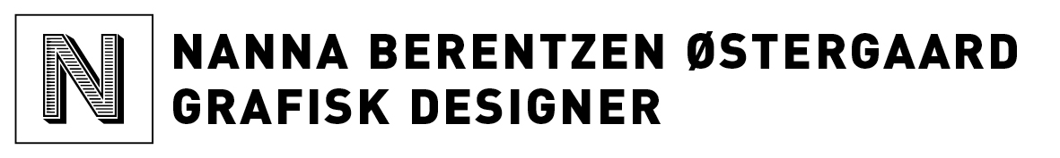 Logo top webpage Nanna Berentzen Østergaard Grafisk designer