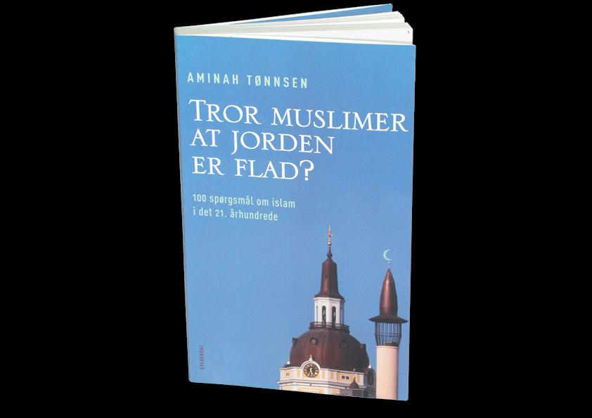 """Aminah Tønnsen """"Tror Muslimer at jorden er flad? 100 spørgsmål om islam i det 21. århundrede"""". Gyldendal. Omslagsdesign: Nanna Berentzen Østergaard."""
