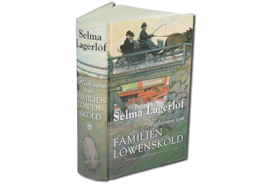 "Selma Lagerlöf ""Historien om Familien Löwensköld"". Omslagsdesign af Nanna Berentzen Østergaard"