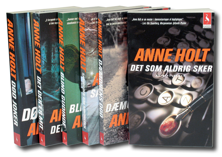Anne Holt. Gyldendal paperback. Seriedesign: Nanna Berentzen Østergaard.