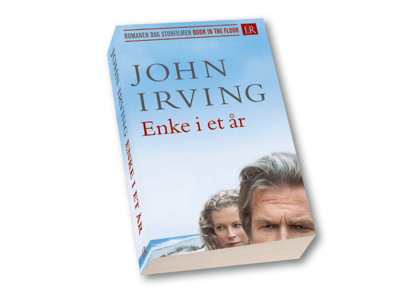 """John Irving """"Enke i et år"""". Lindhardt og Ringhof Paperback. Designet af Harvey Macauley og Nanna Berentzen Østergaard."""
