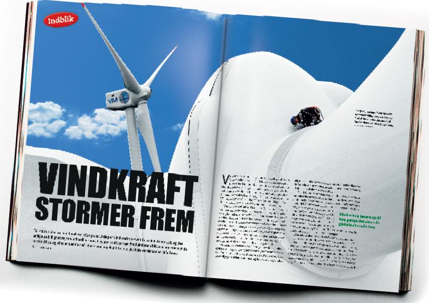 Vindkraft Stormer frem. Ældre artikel fra Illustreret Videnskab om vindkraft og ren energi. Design og billedrecearch: Nanna Berentzen Østergaard.