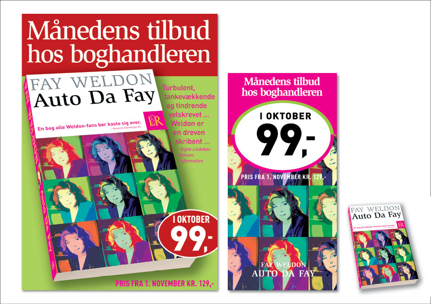 In-store marketingsmateriale for Lindhardt og Ringhof.