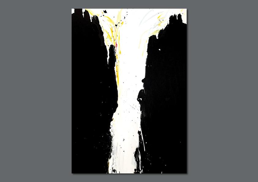 "Maleri: ""Norwegian Vulcano"" 150 x 100 cm af Nanna Berentzen Østergaard. Akryl på lærred."