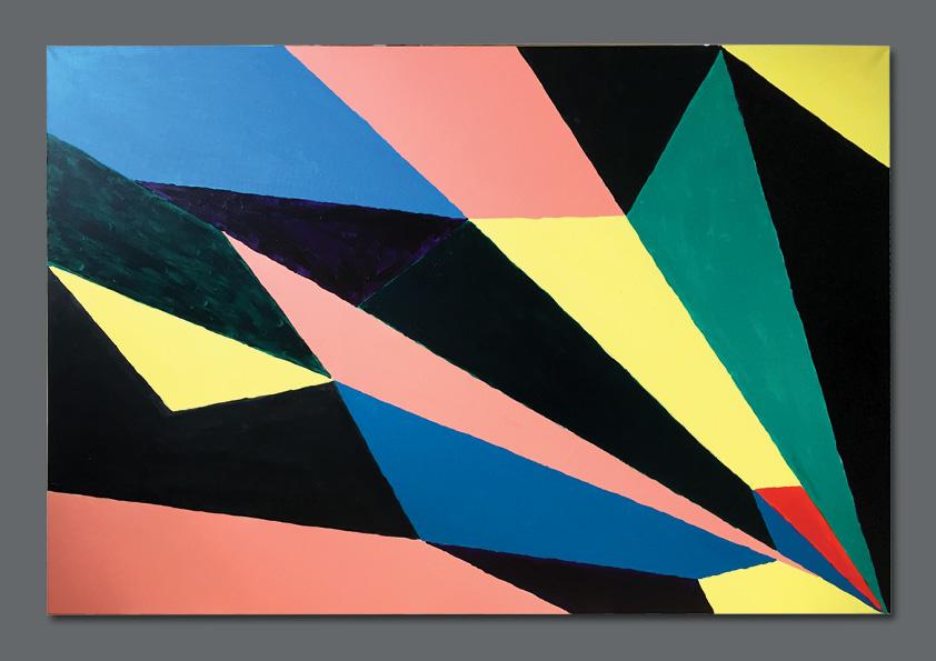 Maleri 150 x 100 cm af Nanna Berentzen Østergaard. Akryl på lærred.
