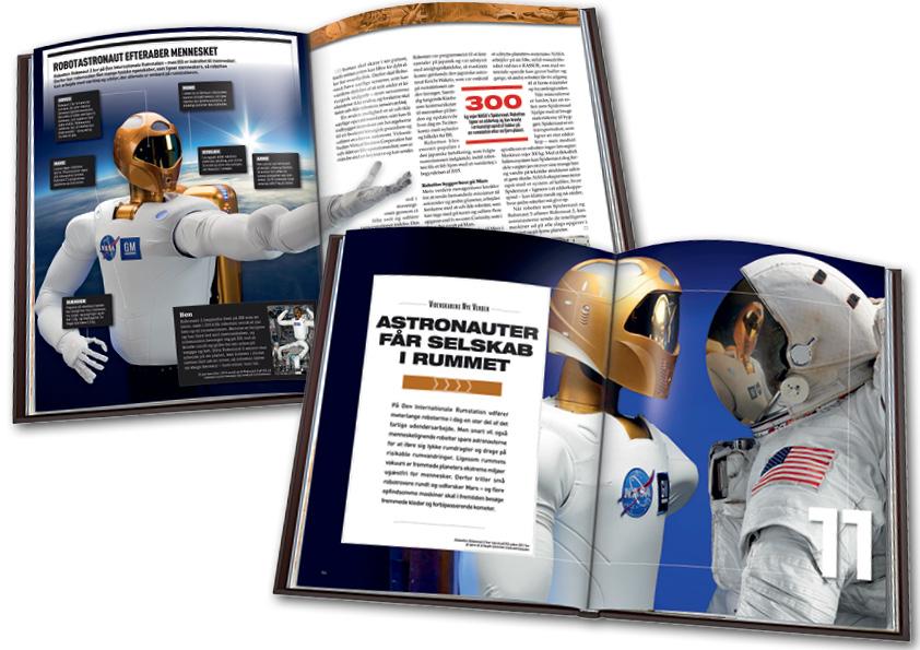 Robotter i rummet. Kapitelstarter og opslag i bind 8, Videnskabens Nye Verden. Design og layout: Nanna Berentzen Østergaard.