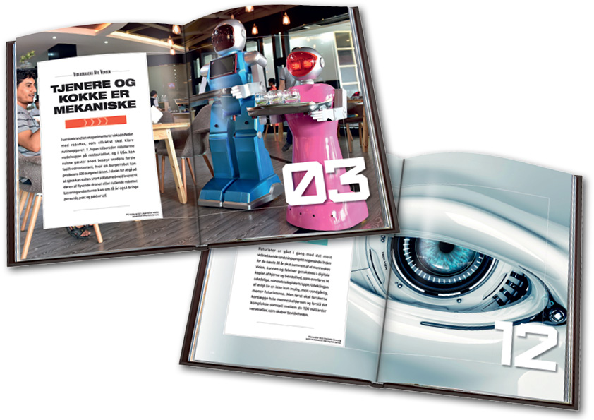Robotter i serviceindustrien. Videnskabens Nye Verden. Design og layout: Nanna Berentzen Østergaard.