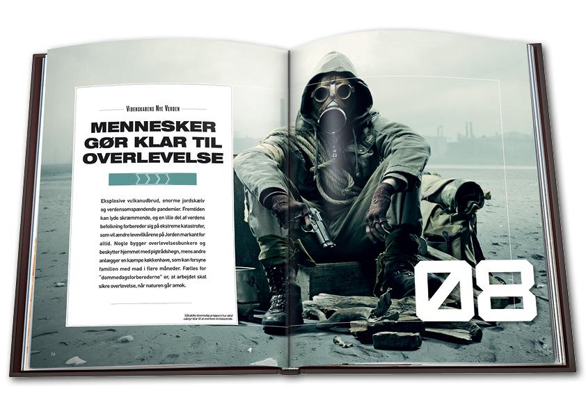 Kapitelstarter fra kapitlet om Doomsday preppers i Videnskabens Nye Verden. Grafisk design og layout: Nanna Berentzen Østergaard.