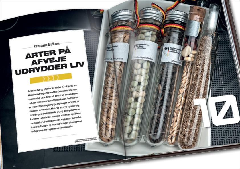 Kapitelstarter fra kapitlet om truede arter i Videnskabens Nye Verden. Grafisk design og layout: Nanna Berentzen Østergaard.